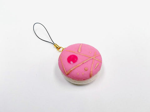 Macaron (pink cosmo) Cell Phone Charm/Zipper Pull