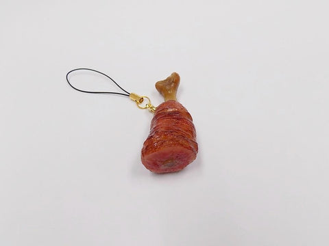 Meat on Bone (cut) Cell Phone Charm/Zipper Pull