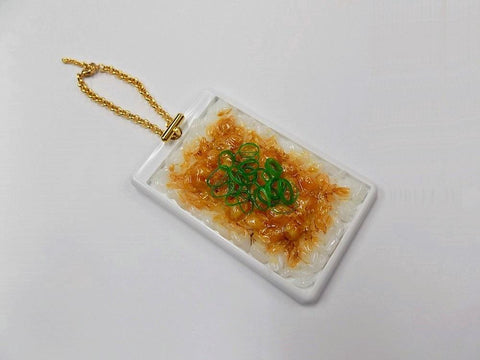 Natto (Fermented Soybeans) & Rice Pass Case with Charm Bracelet