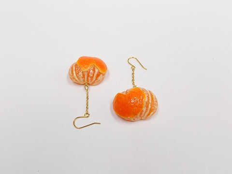Orange (Heart-Shaped) Pierced Earrings