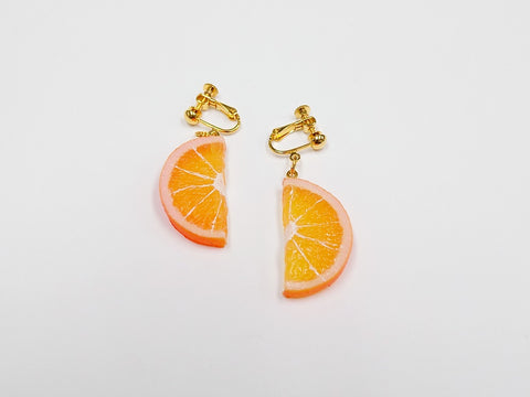 Orange Slice (half-size) Clip-On Earrings