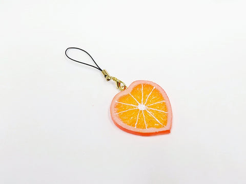 Orange Slice (Heart-Shaped) Cell Phone Charm/Zipper Pull