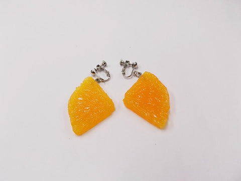 Orange Slice (quarter-size) Clip-On Earrings