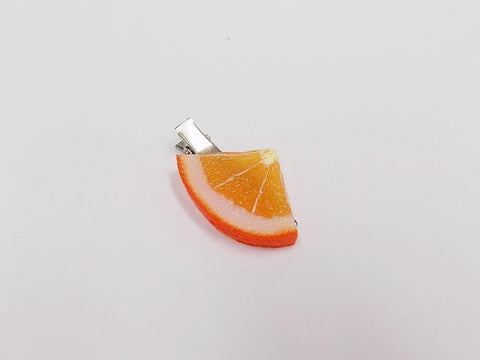 Orange Slice (quarter-size) Hair Clip