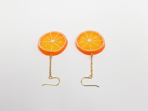 Orange Slice (small) Pierced Earrings