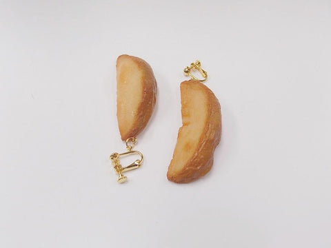 Pan-Fried Potato Clip-On Earrings
