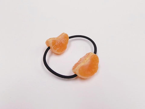 Peeled Orange (quarter-size) Hair Band (Pair Set)