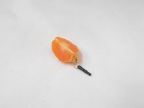 Peeled Orange (quarter-size) Headphone Jack Plug