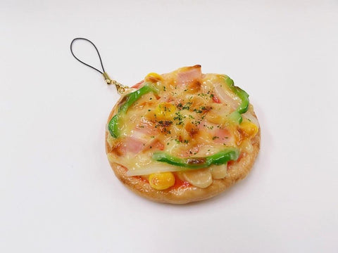 Pizza (Whole) Cell Phone Charm/Zipper Pull
