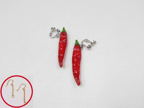 Red Chili Pepper (mini) Pierced Earrings