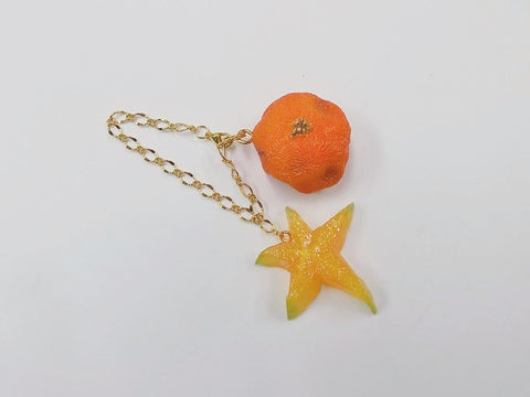 Spoiled Orange & Star Fruit (small) Bag Charm