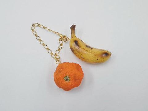 Spoiled Orange & Whole Ripened Banana (mini) Bag Charm