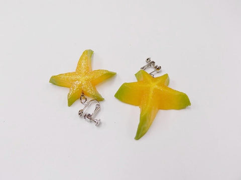 Star-Shaped Fruit (small) Clip-On Earrings