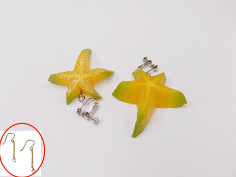 Star-Shaped Fruit (small) Pierced Earrings
