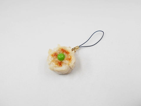 Steamed Pork Dumpling with Green Pea Cell Phone Charm/Zipper Pull