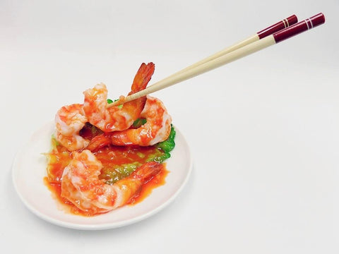 Stir-Fried Shrimp with Chili Sauce & Chopsticks Smartphone Stand
