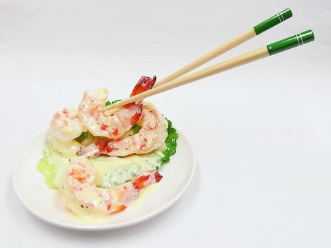 Stir-Fried Shrimp with Mayonnaise & Chopsticks Smartphone Stand