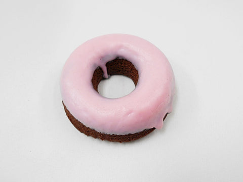 Strawberry Frosted Chocolate Doughnut Magnet