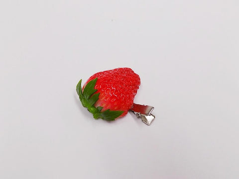 Strawberry with Stem (half-size) Hair Clip