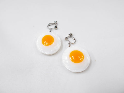 Sunny-Side Up Egg (small) Clip-On Earrings