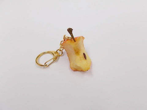Three-Quarters Eaten Apple Keychain