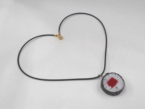 Tuna Roll Sushi (round) Necklace