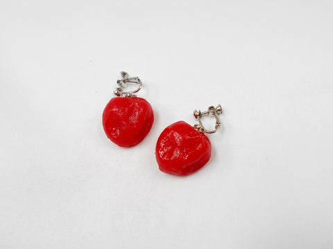 Umeboshi (Pickled Plum) (small) Clip-On Earrings