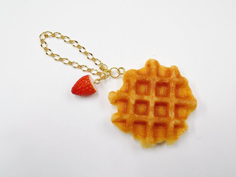 Waffle & Strawberry Bag Charm