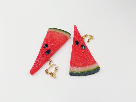 Watermelon (small) Ver. 2 Clip-On Earrings