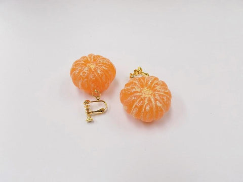 Whole Peeled Orange (small) Clip-On Earrings