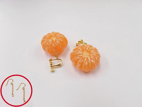 Whole Peeled Orange (small) Pierced Earrings