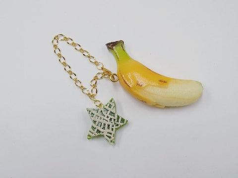 Whole Peeled Ripened Banana & Melon (Star-Shaped) (small) Bag Charm