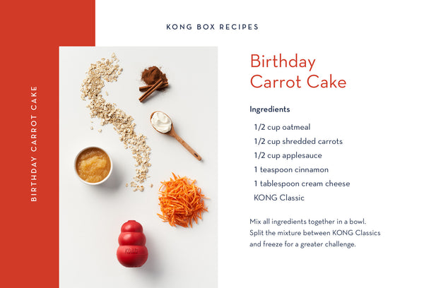 Birthday Carrot Cake for Your Dog