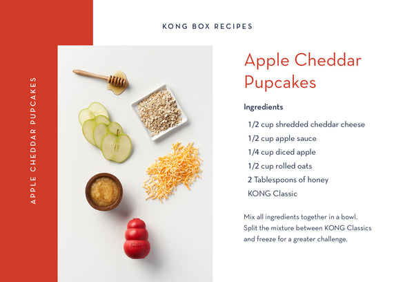 Apple Cheddar Pupcakes for Your Dog
