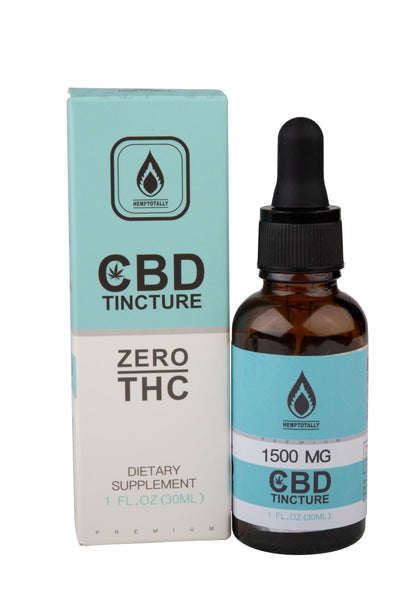 THC Free CBD Isolate TIncture in MCT Oil (30mL)