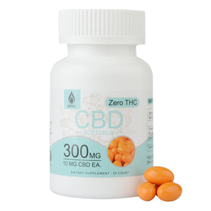 Full Spectrum CBD Hemp Oil Capsules with Turmeric & Bioperine 300 mG softgel