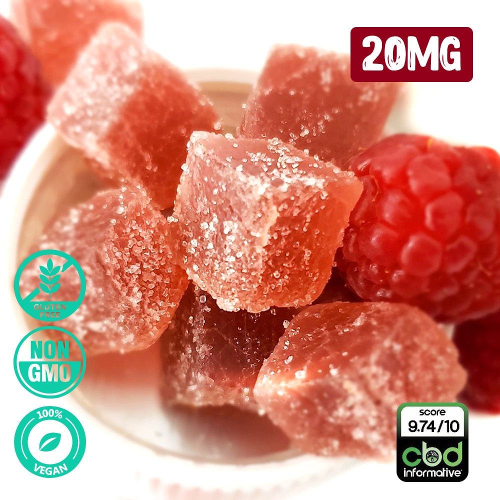 CBD ARTISAN RASBERRY GUMMIES (20MG)