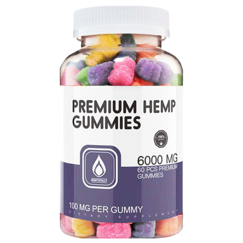 All Natural Hemp Gummy Bears  No CBD (60 per bottle)
