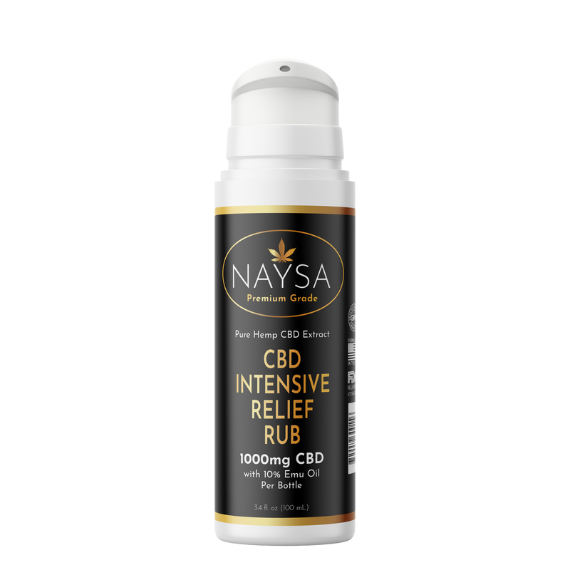 CBD Intensive Relief Rub with Emu - 1000mg (Airless Pump)