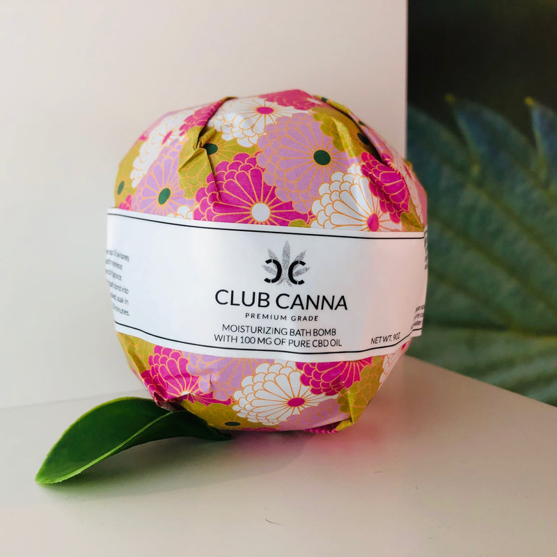 CBD Bath Bomb - Moisturizing and Calming (100mg CBD)