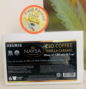 CBD Organic Columbian Arabica Coffee - 30mg / Cup (6 ct.)