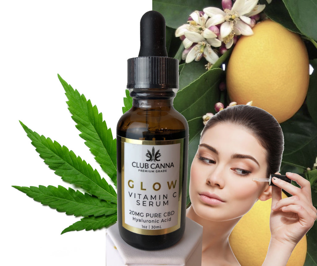 CBD Vitamin C Facial Serum with Hyaluronic Acid