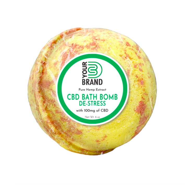 CBD Bath Bomb - De-Stress (100mg CBD)
