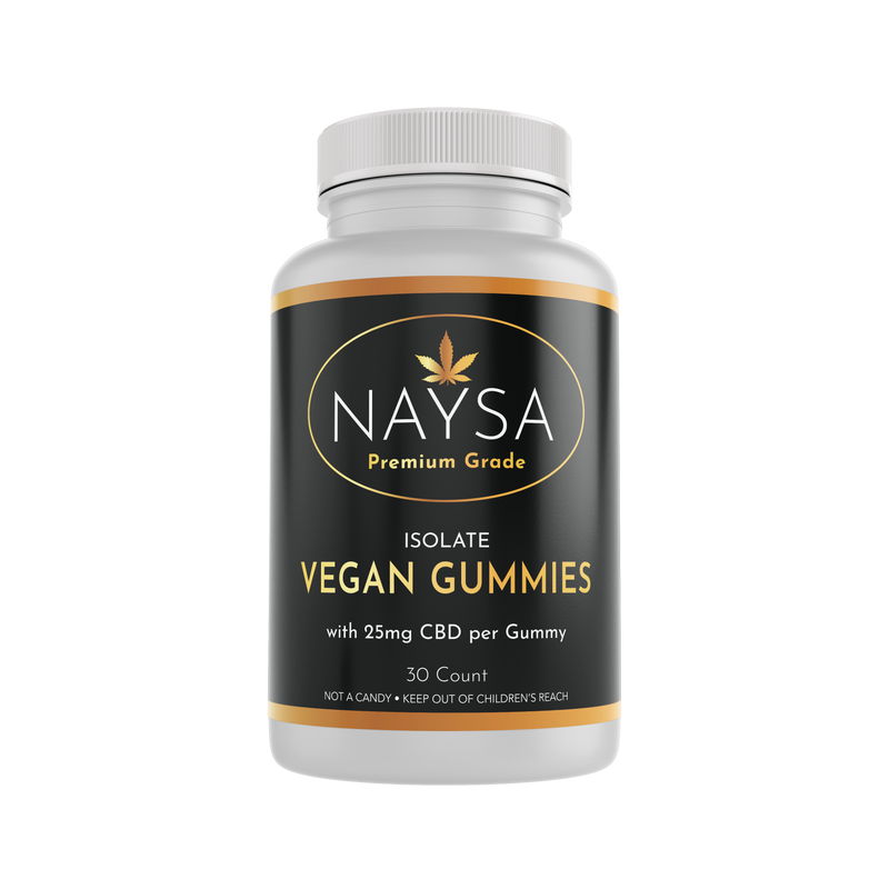 CBD Vegan Isolate Gummies - 25mg / Gummy (30 ct. Bottle)