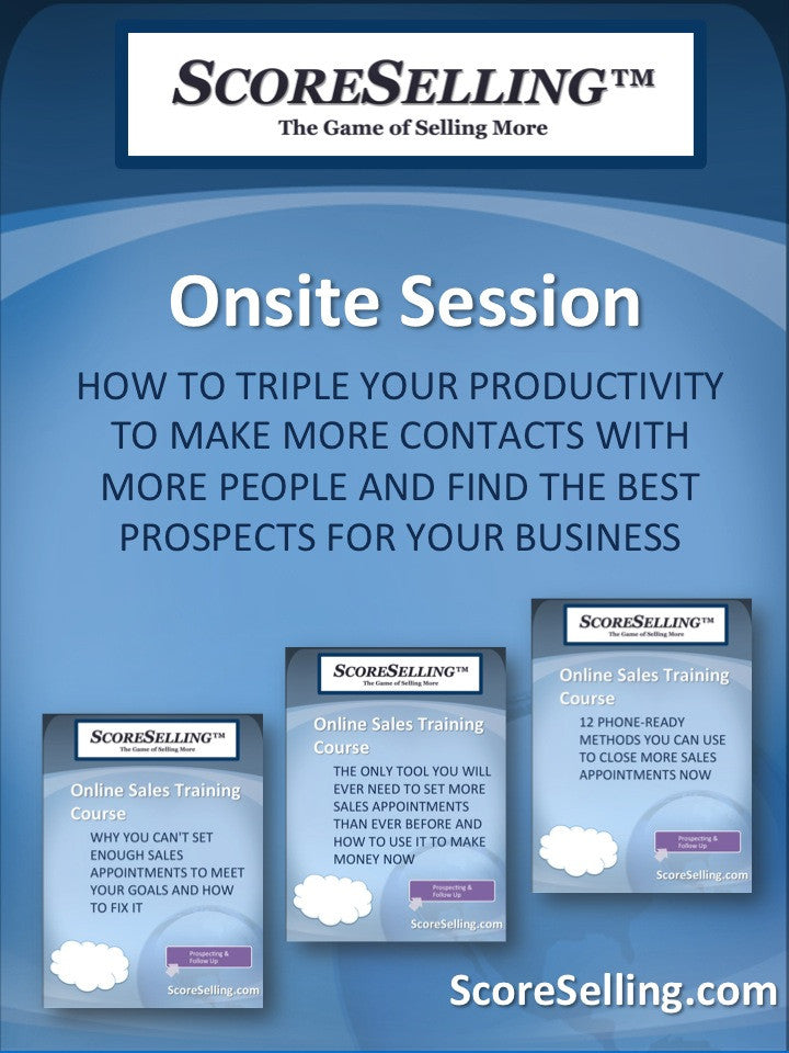 How To Triple Your Productivity To Make More Contacts With More People And Find The Best Prospects For Your Business