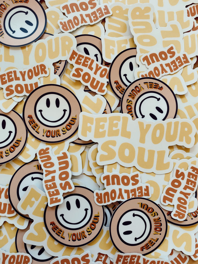 Feel Your Soul Club Stickers w/ car freshner - FEEL YOUR SOUL