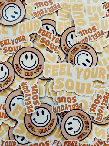 Feel Your Soul Club Stickers w/ car freshner