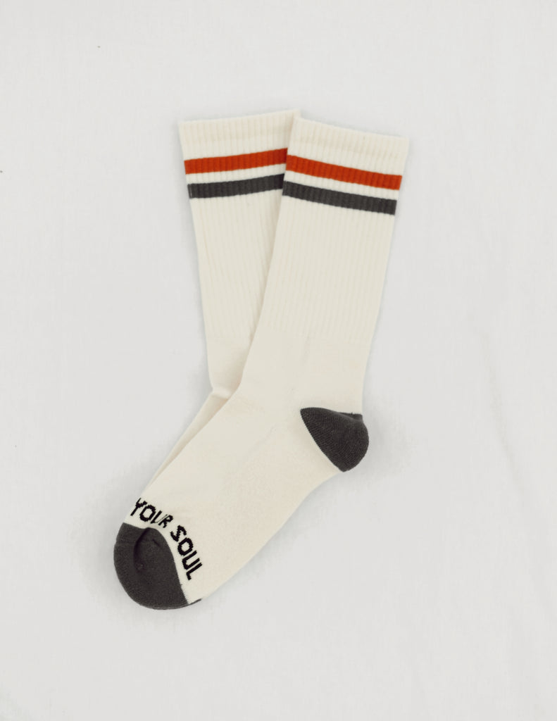 Retro stripe crew sock - FEEL YOUR SOUL