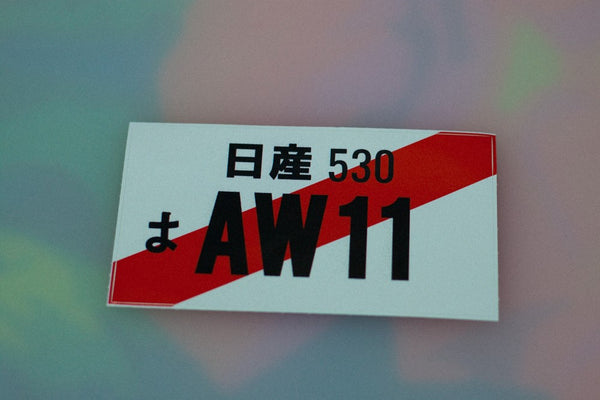 JDM Number Plate - AW11