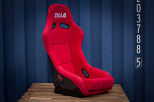 Bucket Seat Red // Carbon Fibre Hardback - Zillalife - 1